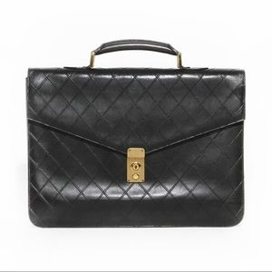Chanel Padded Briefcase Vintage Circa 1990's